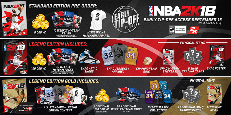 Heres What You Get For Pre Ordering Nba 2k18 2k Support