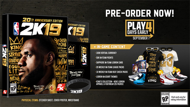 Here's What You Get For Pre-Ordering NBA 2K19 – 2K Support