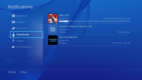 ps4 how to check downloads
